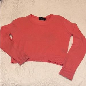 Line 100% Cashmere Sweater in Bright Coral Pink